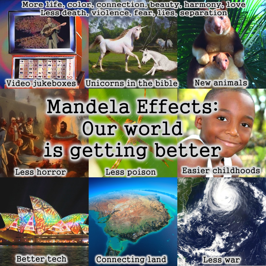 Mandela Effect: Our world is getting better