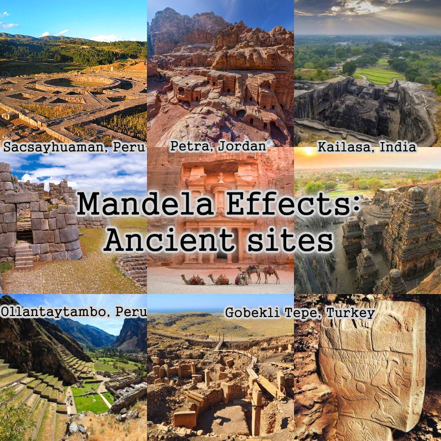 Mandela Effects: Ancient sites